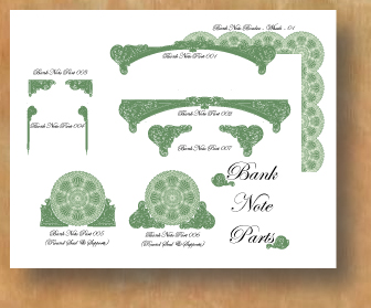Certificate design certificate border art in vector format new bank note certificate parts all in vector format for use in programs like illustrator yelopaper Choice Image