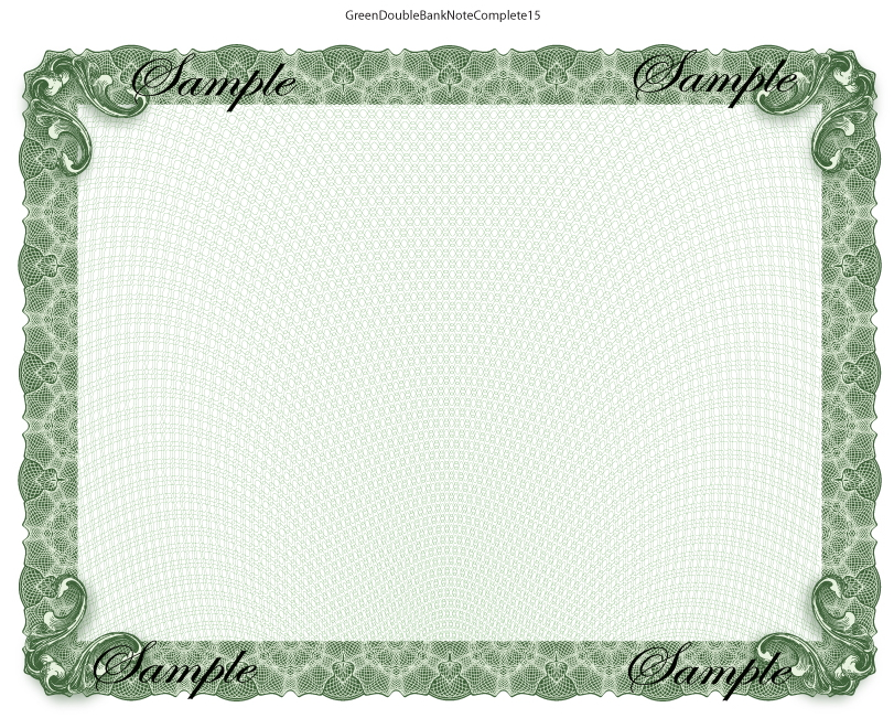 Green Bank Note Certificates  Certificate Designs In Vector